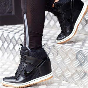 Womens Shoes Nike Women Dunk Sky Hi Mesh Black